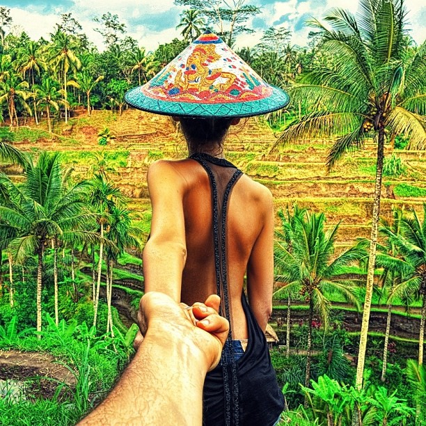 follow me to the Bali rice fields