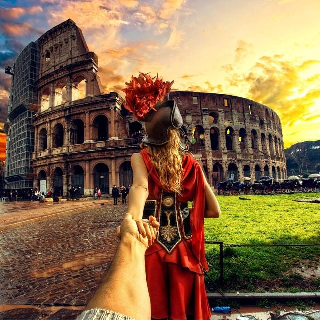 follow me to the Roman Colosseum