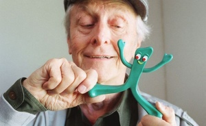 Art Clokey playing with Gumby
