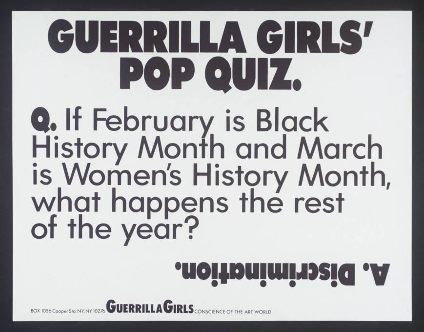 [no title] 1985-90 Guerrilla Girls null Purchased 2003 http://www.tate.org.uk/art/work/P78815